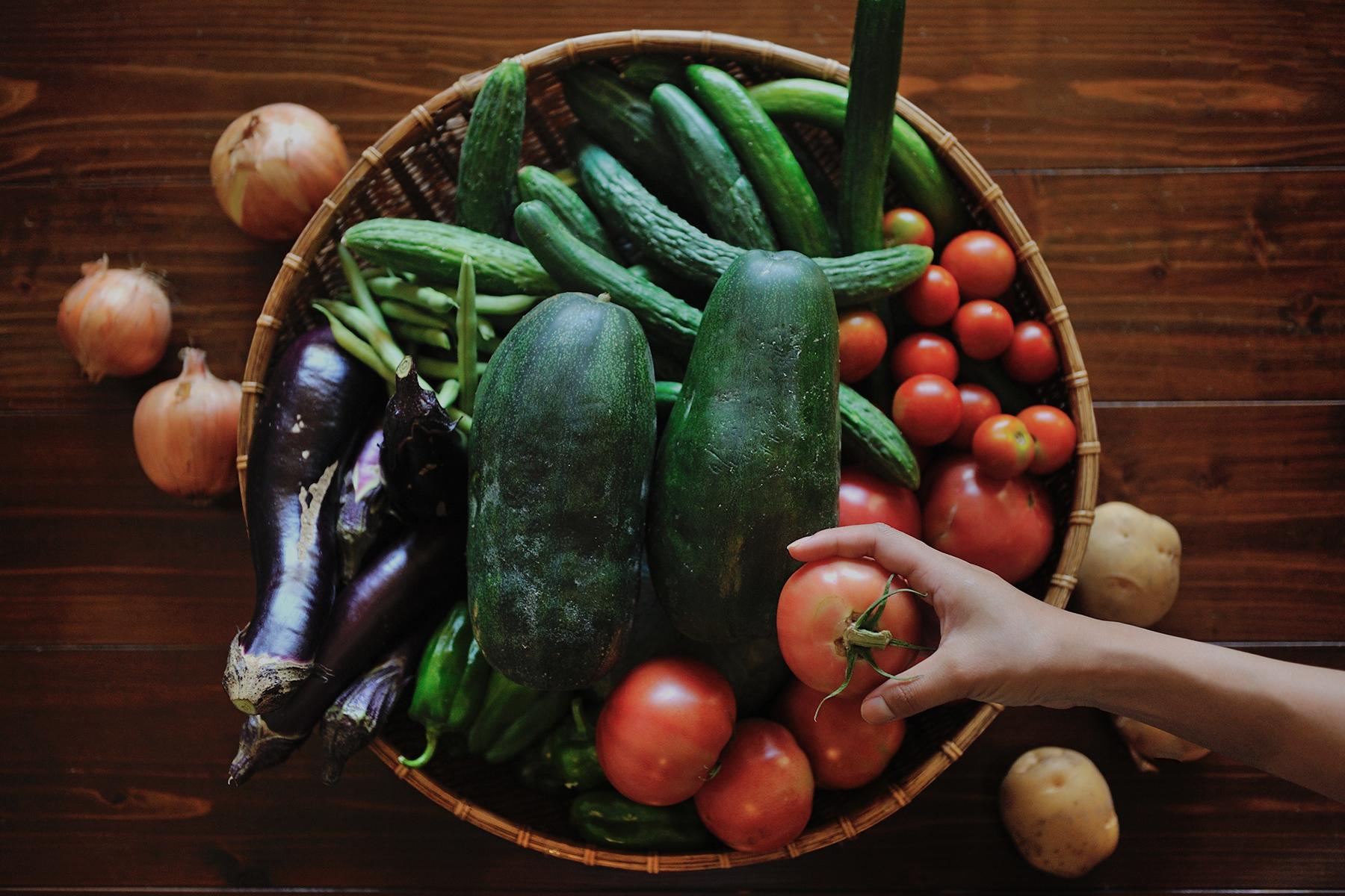 野菜籠盛り